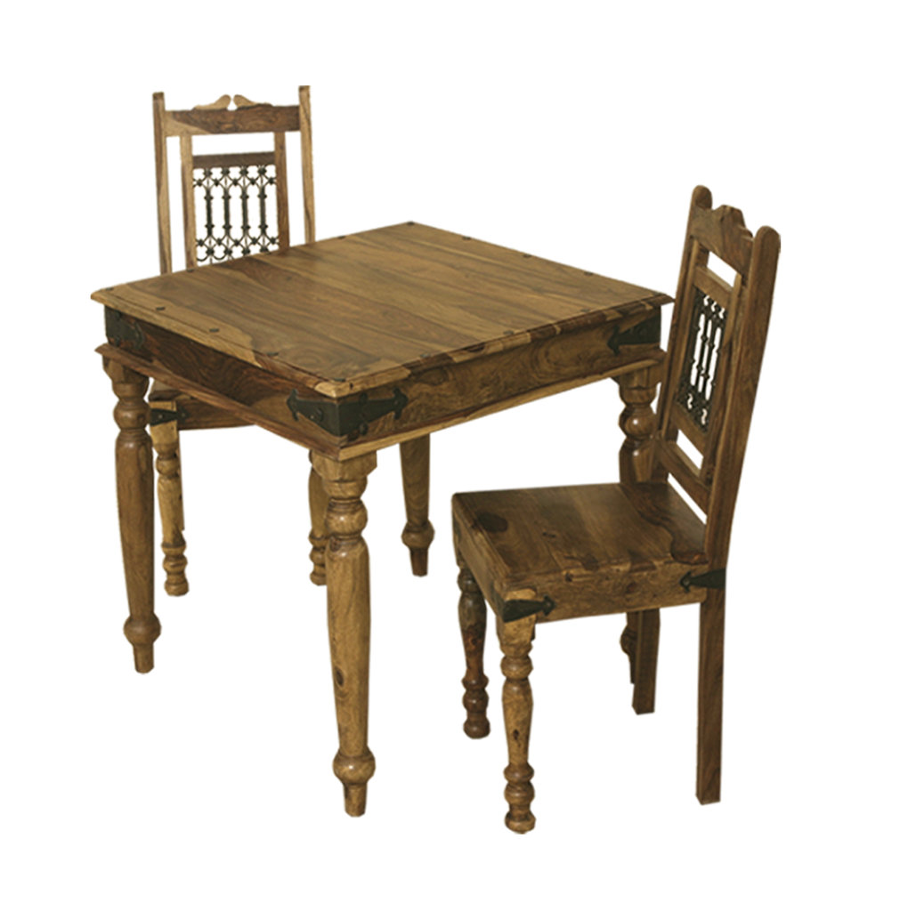 Jali 90x90 table quality indian and oak furniture for Compact dining table