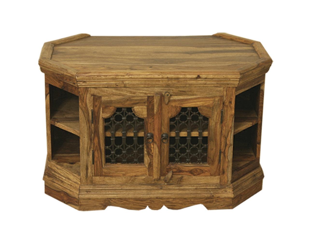 Jali Corner Tv Cabinet Quality Indian And Oak Furniture # Muebles Petit Corner