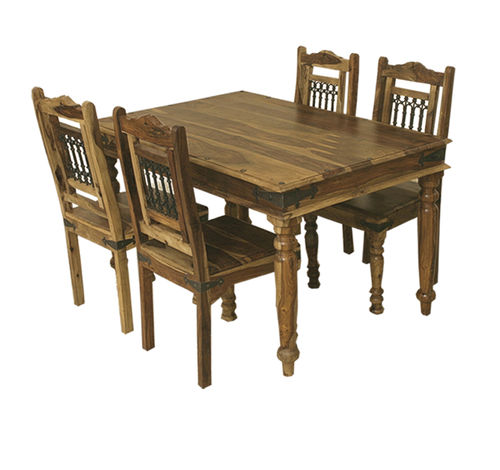 *SPECIAL* Jali 1.35m Table + 4 Jali Chairs