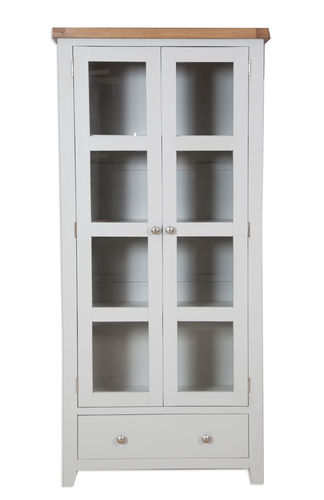 French Grey Display Cabinet