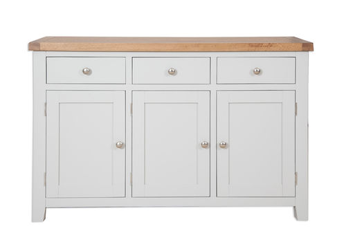 French Grey Large Sideboard