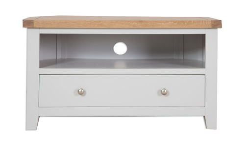 French Grey Corner TV Unit