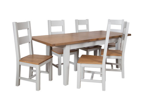 French Grey Large Extending Table