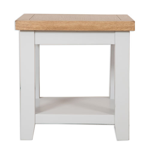 French Grey Lamp Table
