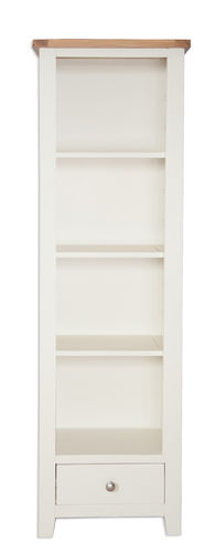 Melbourne Ivory Slim Bookcase